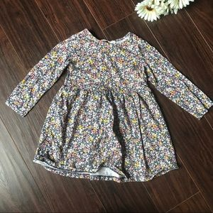 H&M Floral Baby Girls Longsleeve Dress 2-4 Years